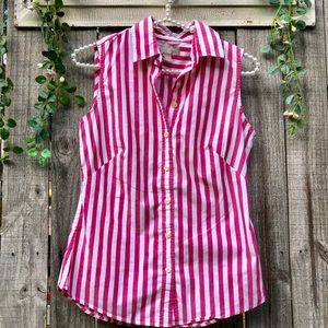 Classy Red and White Blouse 2 Non-Iron